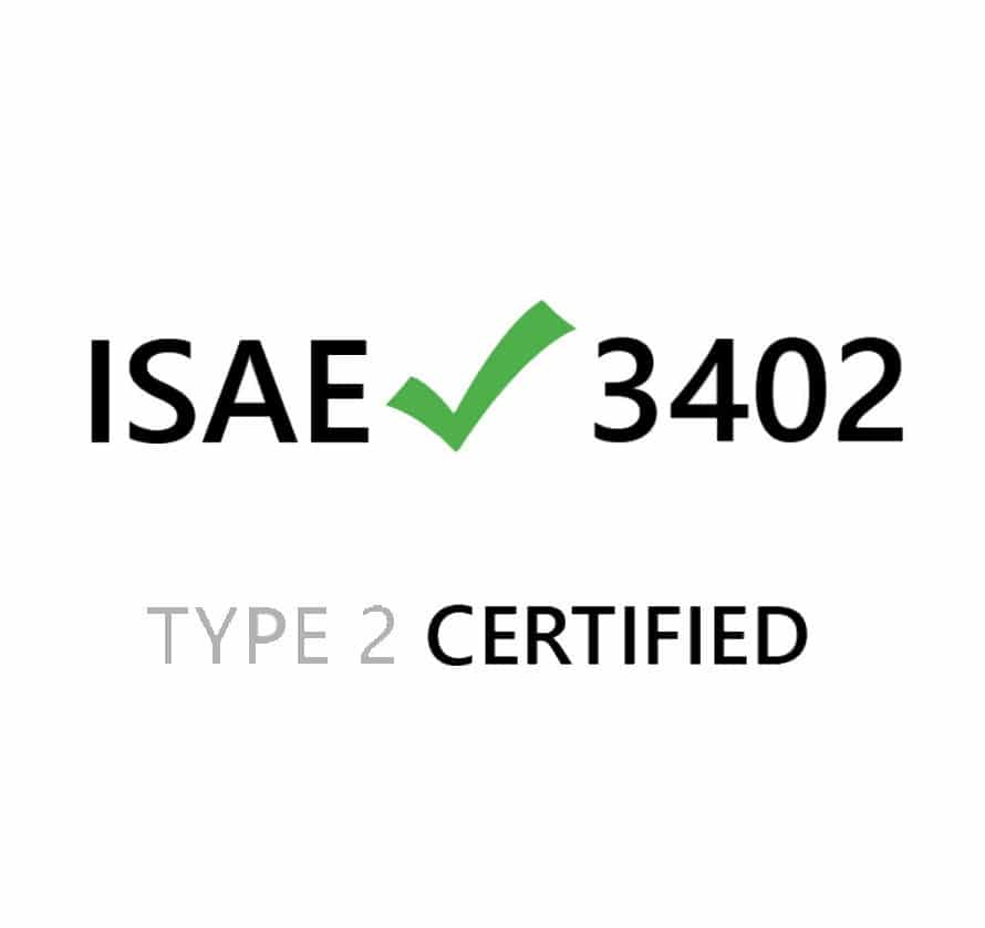 isae 3402 type 2 certified